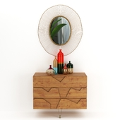 A Wall-mounted Chest of Drawers, Tapio Wirkkala Bolle, Olympia Oval Mirror