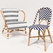 Monaco and Chevron Riviera chairs Serena and Lily