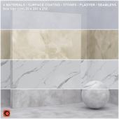 4 materials (seamless) - stone, plaster - set 8