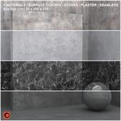 4 materials (seamless) - stone, plaster - set 9
