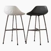 Concrete Hauteville Counter Chair