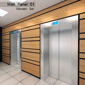 Wall Panel 01. Elevator Set
