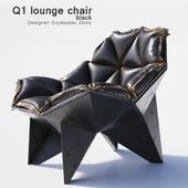 Q1 lounge chair black.