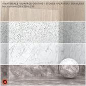 4 materials (seamless) - stone, plaster - set 11