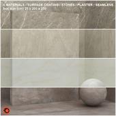 4 materials (seamless) - stone, plaster - set 13