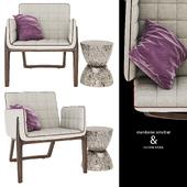 FULTON STOOL & mandarine armchair