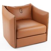 Maryl leather armchair