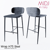 Wrap H75 Stool by MIDJ in Italy