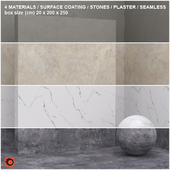 4 materials (seamless) - stone, plaster - set 14