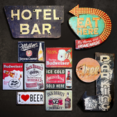 Metal Signs №8. Bar