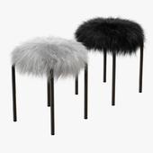 Plush fur stools faux fur