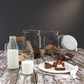 Cookie Jars with Milk Bottle YK4
