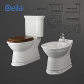 Della. Toilet bowl, bidet Oskar
