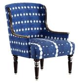 Shibori upholstered armchair