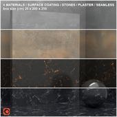 4 materials (seamless) - stone, plaster - set 15