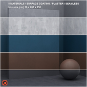 5 materials (seamless) - stone, plaster - set 16