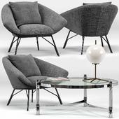 Soren Lounge Chair, Eichholtz Trento Coffee Table