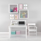 Desk with a set in the nursery