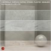 5 materials (seamless) - stone, plaster - set 17