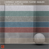 9 materials (seamless) - stone, plaster - set 18