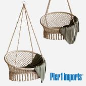 Macrame Natural Hanging Saucer Chair
