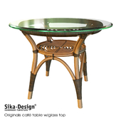 Sika Design Originals dining table w/glass top