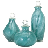 Andes 3 Piece Glass Bottle with Stopper Set