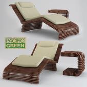 Hawaiian Chaise and Table