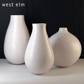 West Elm Oversized Pure White Ceramic Vases