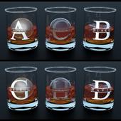 Tumbler glass + Liquor | Print or Etch | Ice cube | Ice Ball