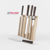 Rondell kitchen knives on a stand