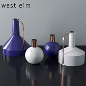 West Elm Enamel + Copper Vases