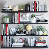 Black and white decor set 4