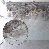 Aged wall with masonry