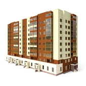 Многоэтажный жилой дом / 9 storey house