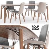 Rolf Benz 616 chair set 02