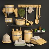 Set for sauna