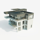 Individual residential house in a modern style. The total area is 250 square meters.