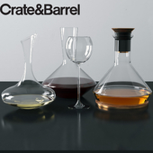 Crate and Barrel Glass Carafes