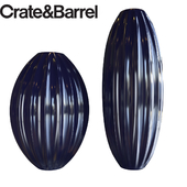 Renny Blue Vases by Crate & Barrel