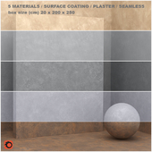 5 materials (seamless) - stone, plaster - set 19