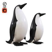 Penguin statuettes