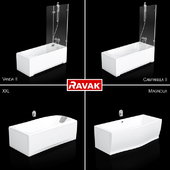 Set of baths Ravak set 06 (XXL, Magnolia, Campanula II, Vanda II)