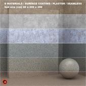 6 materials (seamless) - stone, plaster - set 21