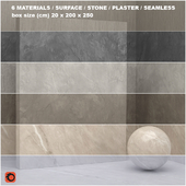 6 materials (seamless) - stone, plaster - set 22