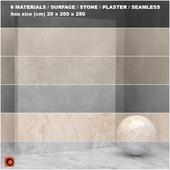 6 materials (seamless) - stone, plaster - set 23