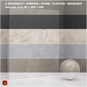 6 materials (seamless) - stone, plaster - set 24