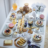 Сервировка стола 21. Завтрак -1