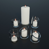 Glass candle holders | Candles