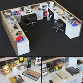 Office Cubicle With Modular Seperator Walls